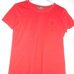 Lauren Size M red 100% cotton t-shirt embroidered